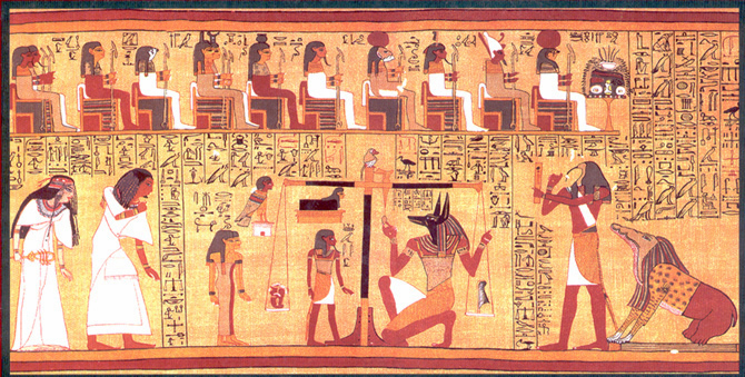 Ancient egypt the adoration of re papyrus of ani hymn to the rising sun - Geloof peinture ...